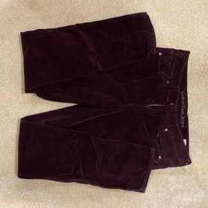 Calvin Klein Women's Eggplant Corduroy Skinny Jean
